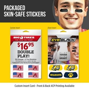 Packaged Athletic Eye Black (2 pair) w/Larger Insert Card